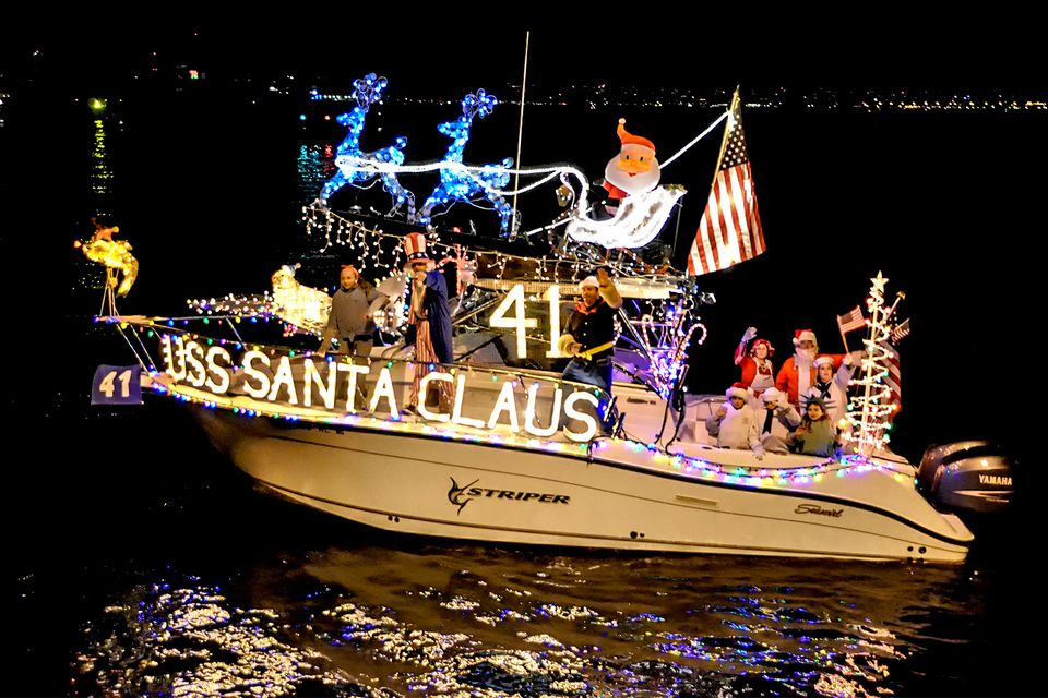 Decorated Boat in the San Diego Parade of Lights