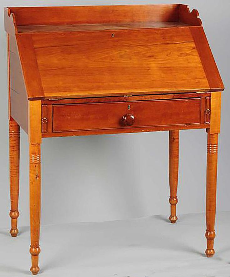 What Qualifies as Slant-Front Desk? Antiques - Is It A Fall-Front Or Drop-Front Antique Desk?