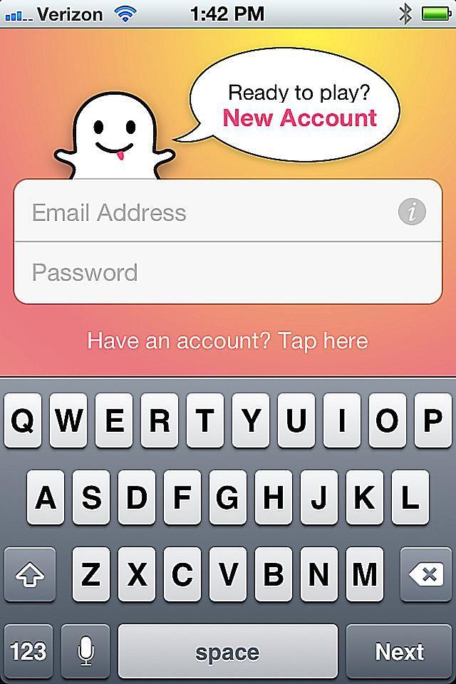 Snapchat signup