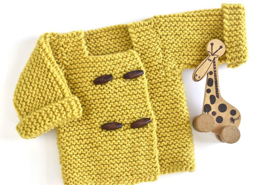 Easy Garter Stitch Baby Sweater