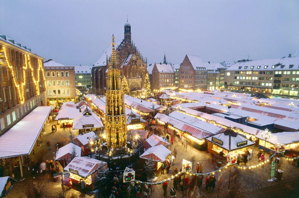Christkindl market in Nuremberg, Frankonia, Germany