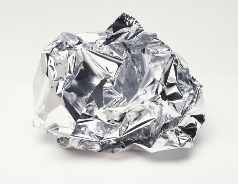 Foil is good to use on food, but you'll get a shock if you bite it.