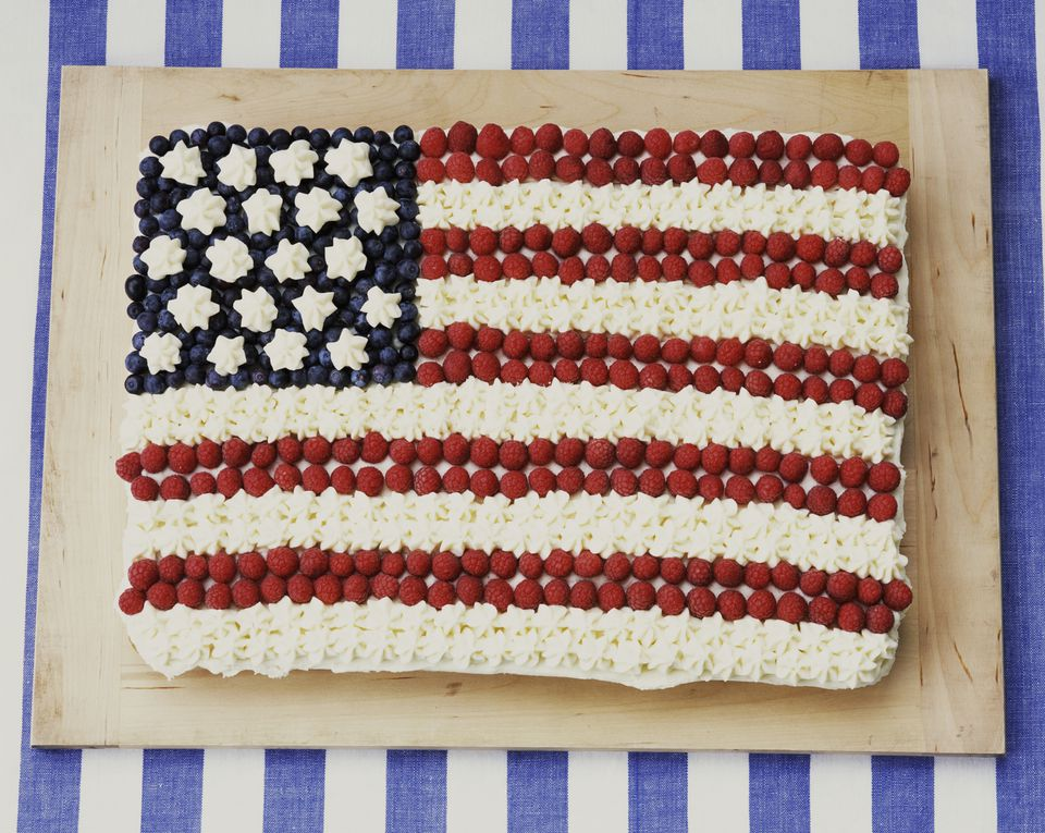 American flag brownie dessert