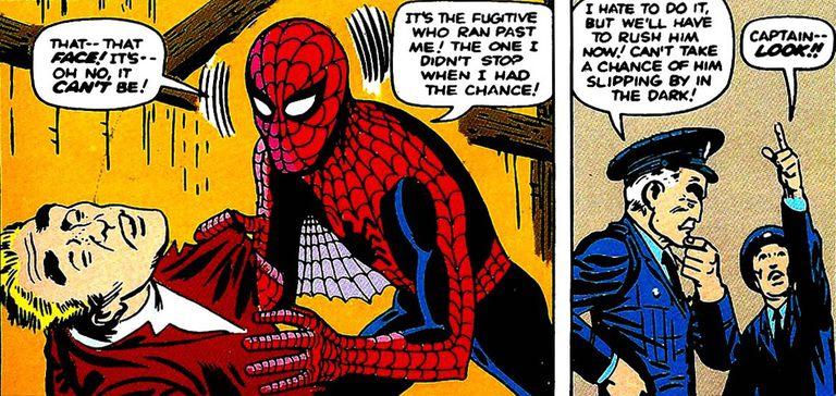 amazing fantasy 15 spider man end