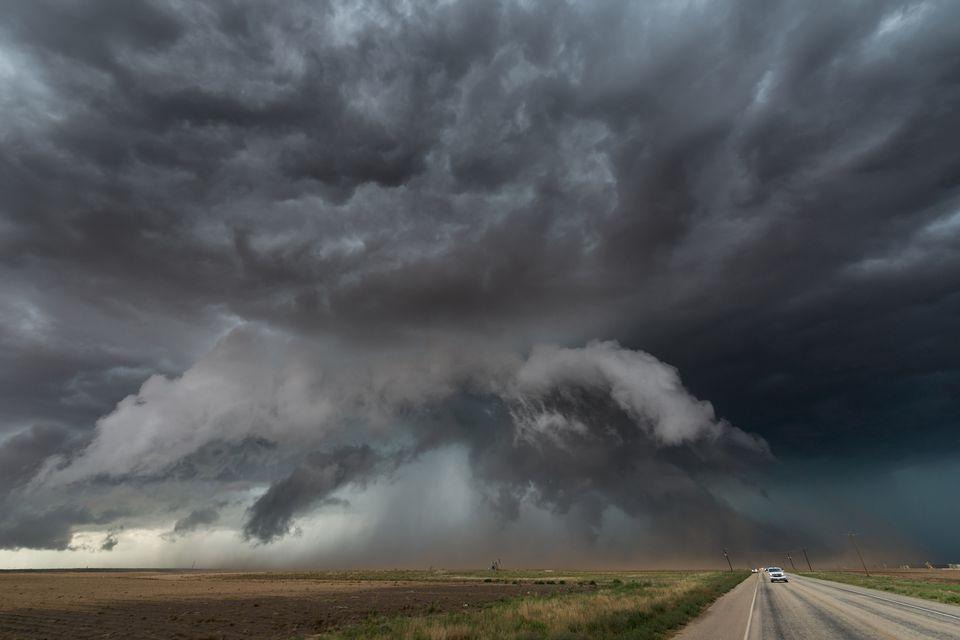 dark clouds of a storm