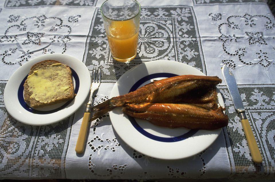 Kippers and Orange Juice for Breakfast