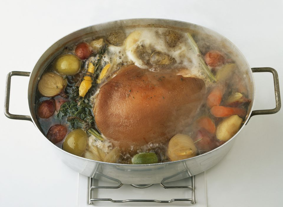 Boiled Ham With Vegetables