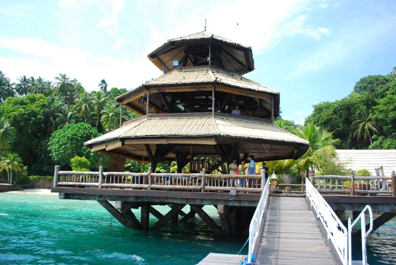 "The ""parola"" in front of Pearl Farm Resort, Samal Island, Philippines"