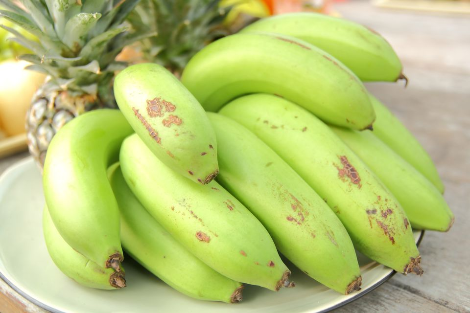 Close-Up Of Bananas In Plate On Table