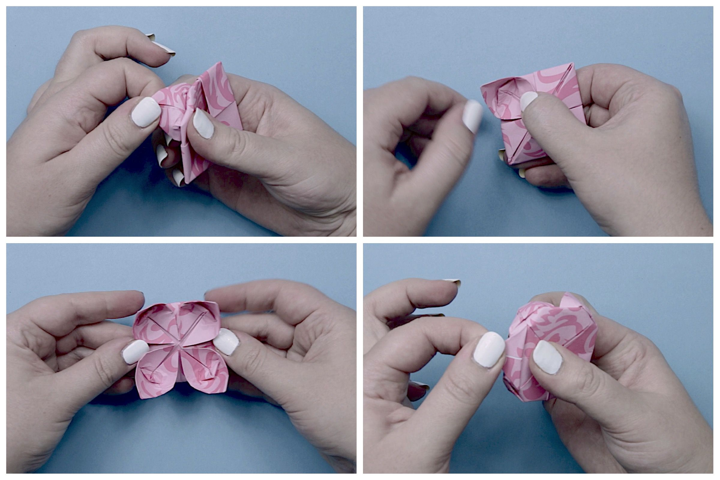 Easy origami lotus instructions dhlflorist Image collections