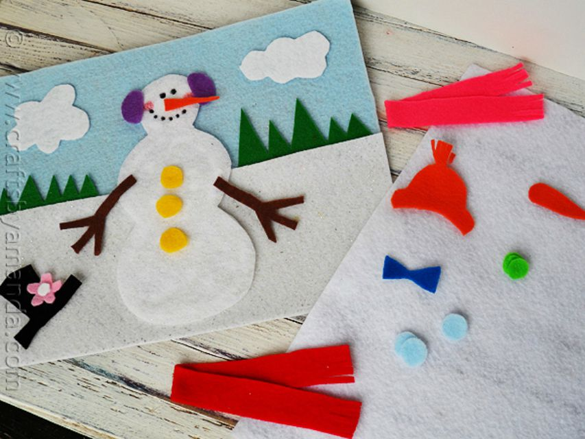 9 Adorable Snowman Crafts For Kids