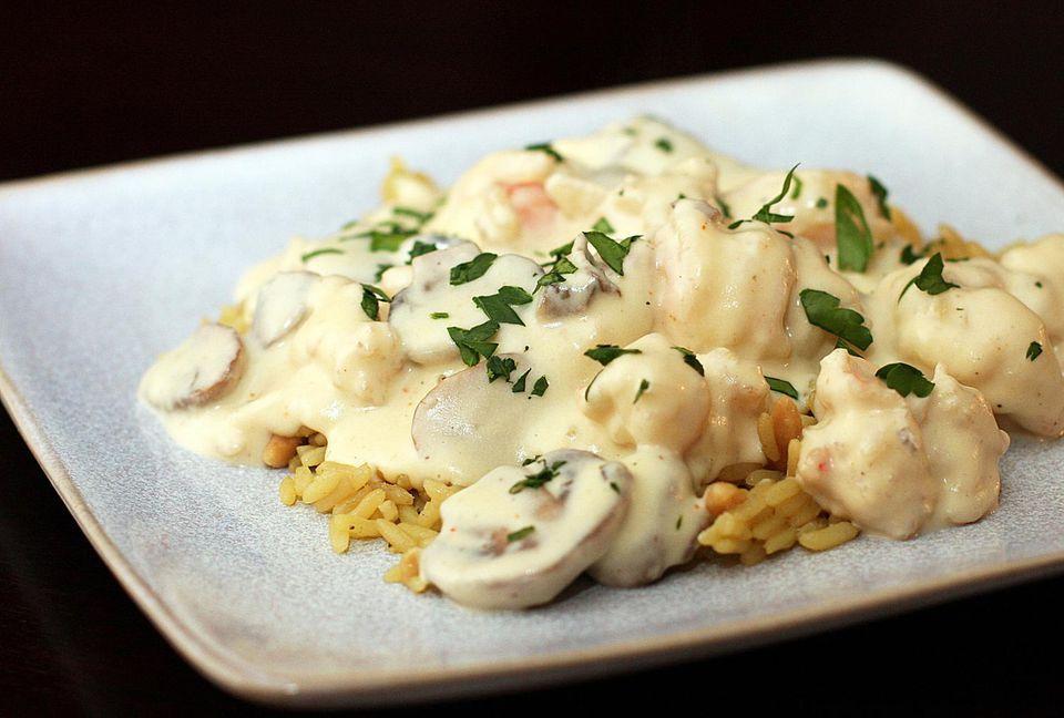 Creamy Shrimp Newburg