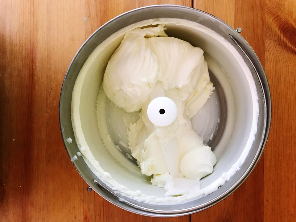 Directly Above Shot Of Ice Cream Maker On Table