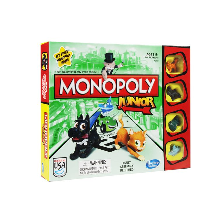 Monopoly Junior is fun for grandparents and grandchildren.