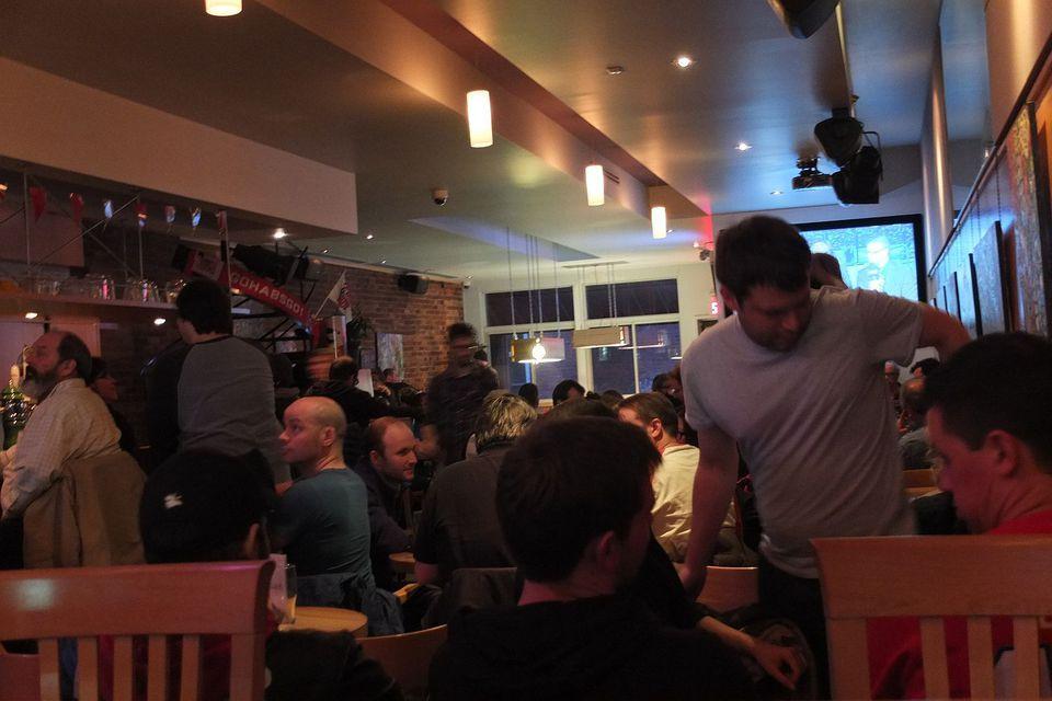 Le Boudoir Montreal pub bar.
