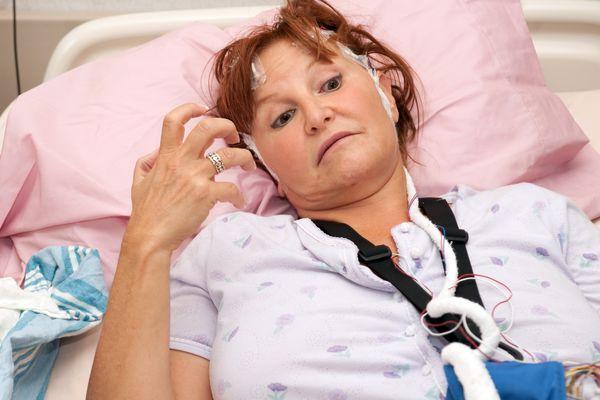 Medical: woman having a real seizure