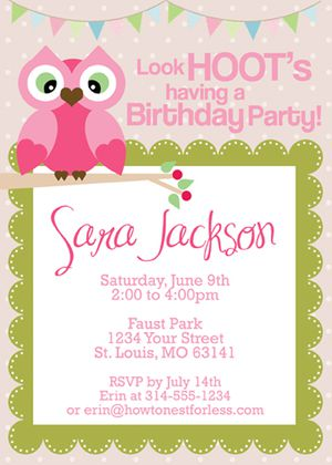 17 free printable birthday invitation templates owl themed birthday party invitations by how to nest for less stopboris Image collections