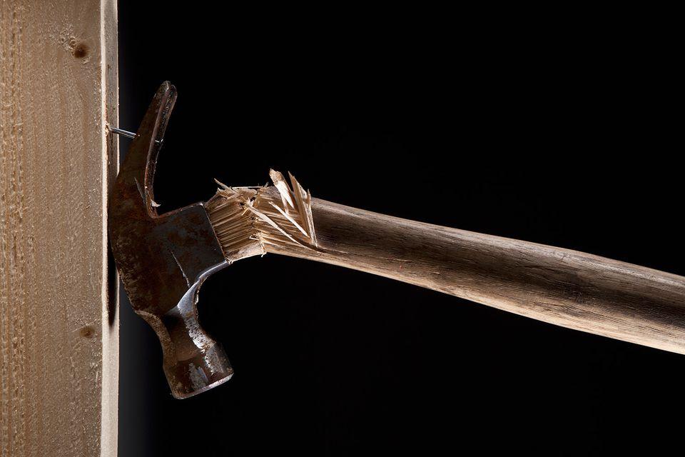 broken hammer handle