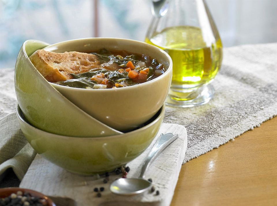 Acquacotta - Tuscan Vegetable Soup with Toasted Bread