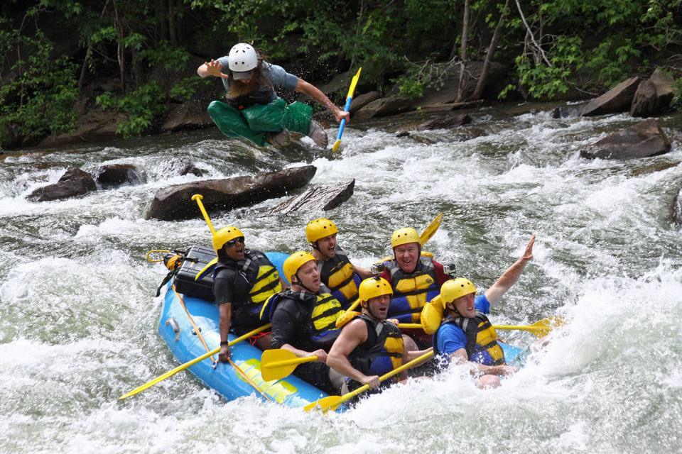 Whitewater Rafting in the Ocoee River north of Chattanooga, Tenn.