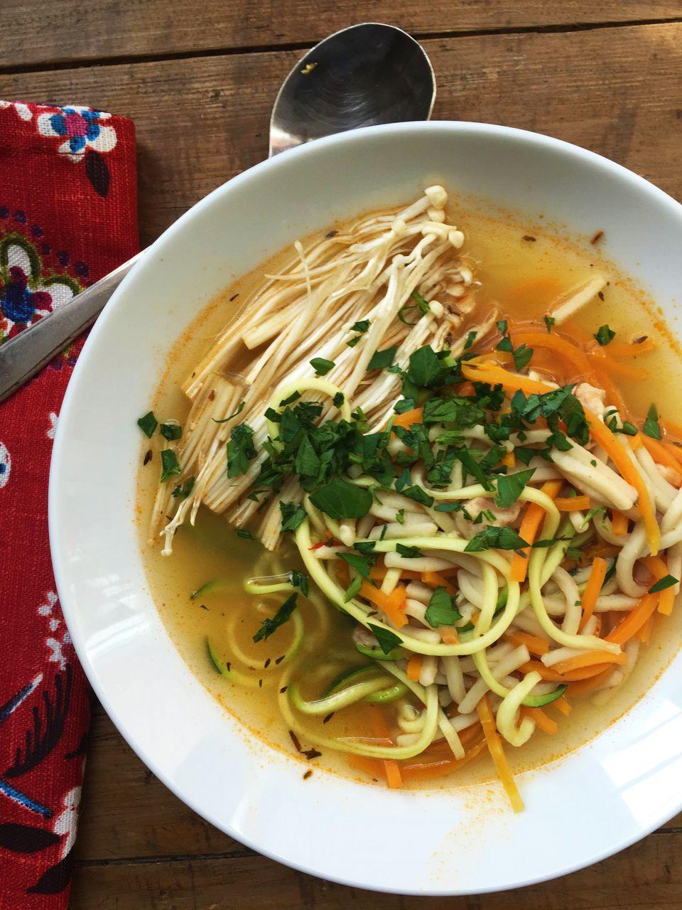 Zoodle Chicken Noodle Soup