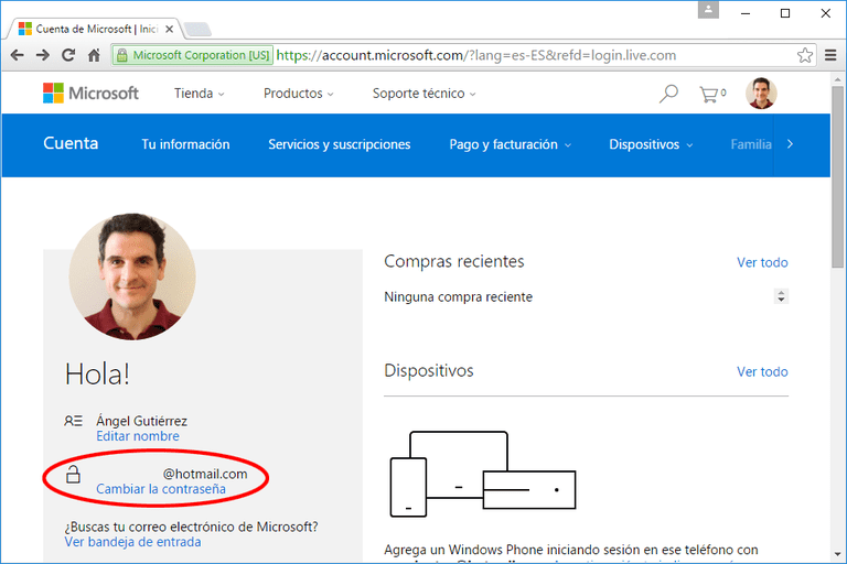 Cambiar-Contrasena-Hotmail-Outlook-Messenger