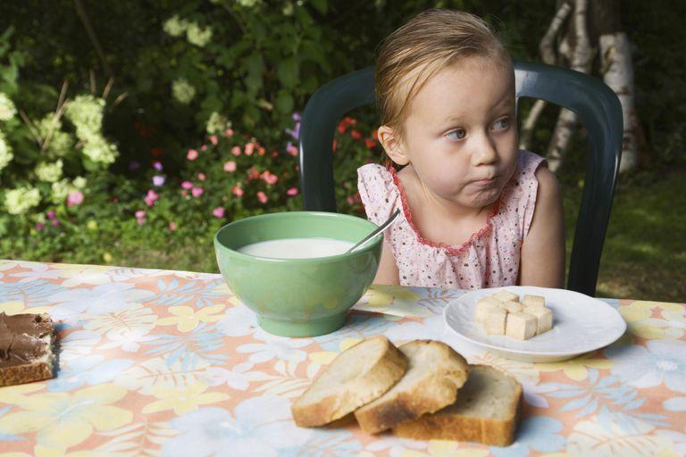 Girl eating outdoors