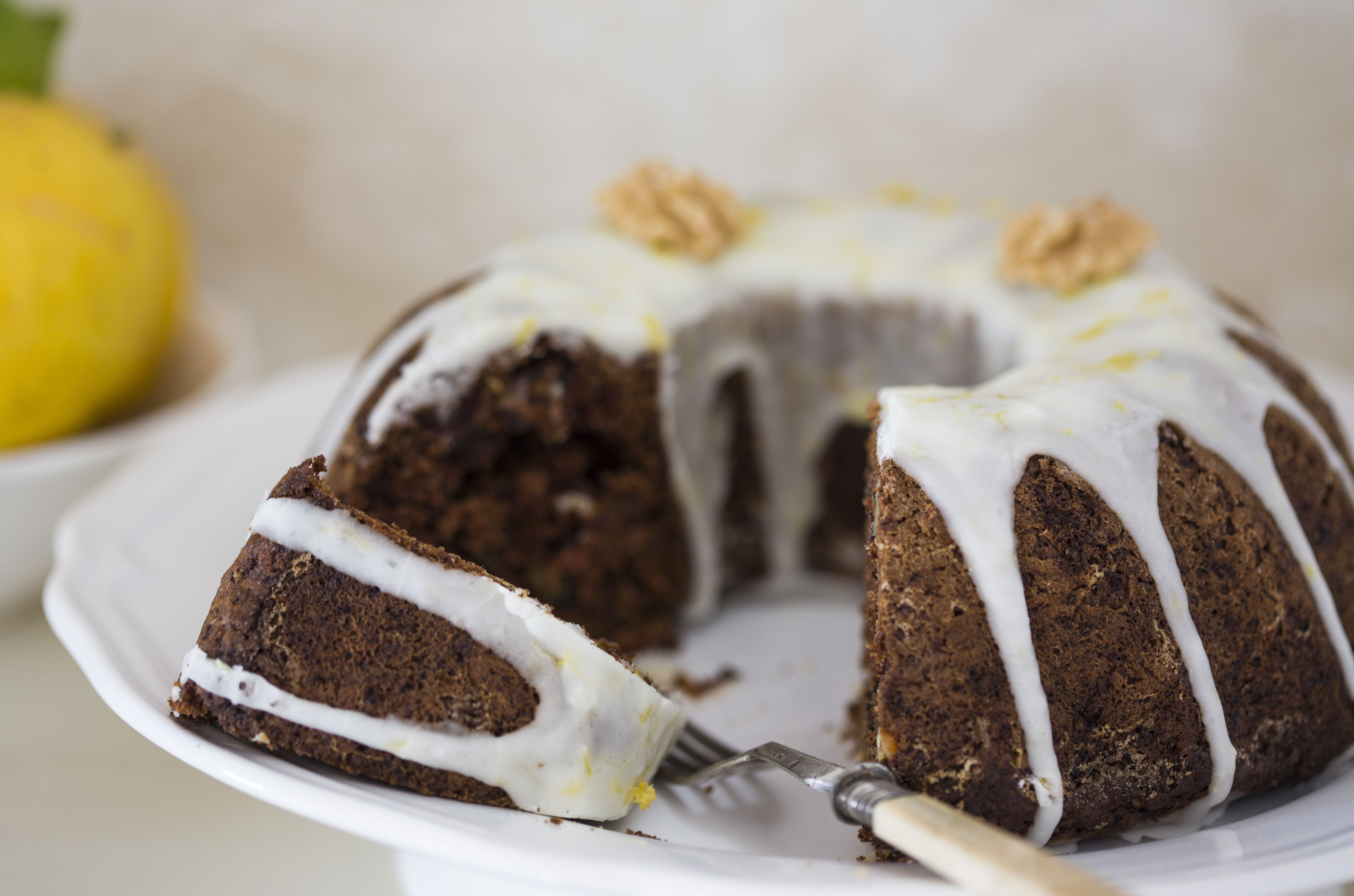 Date And Walnut Cake With Icing