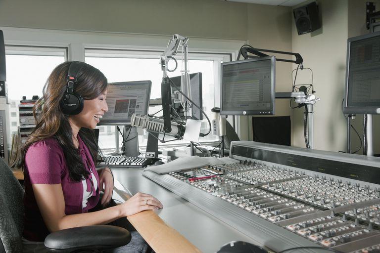 Asian dj working at radio station
