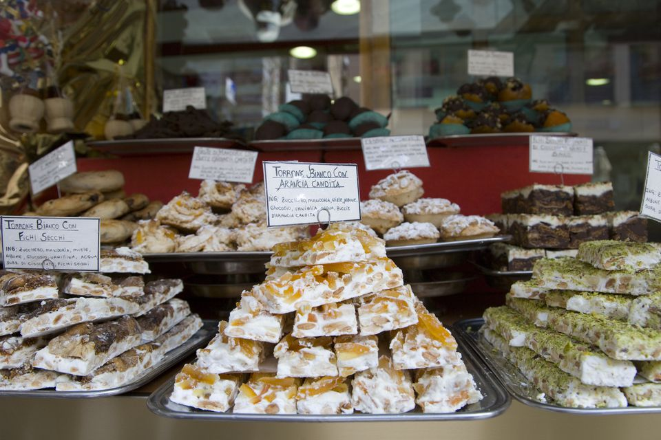 Torrone dolce for sale in bakery