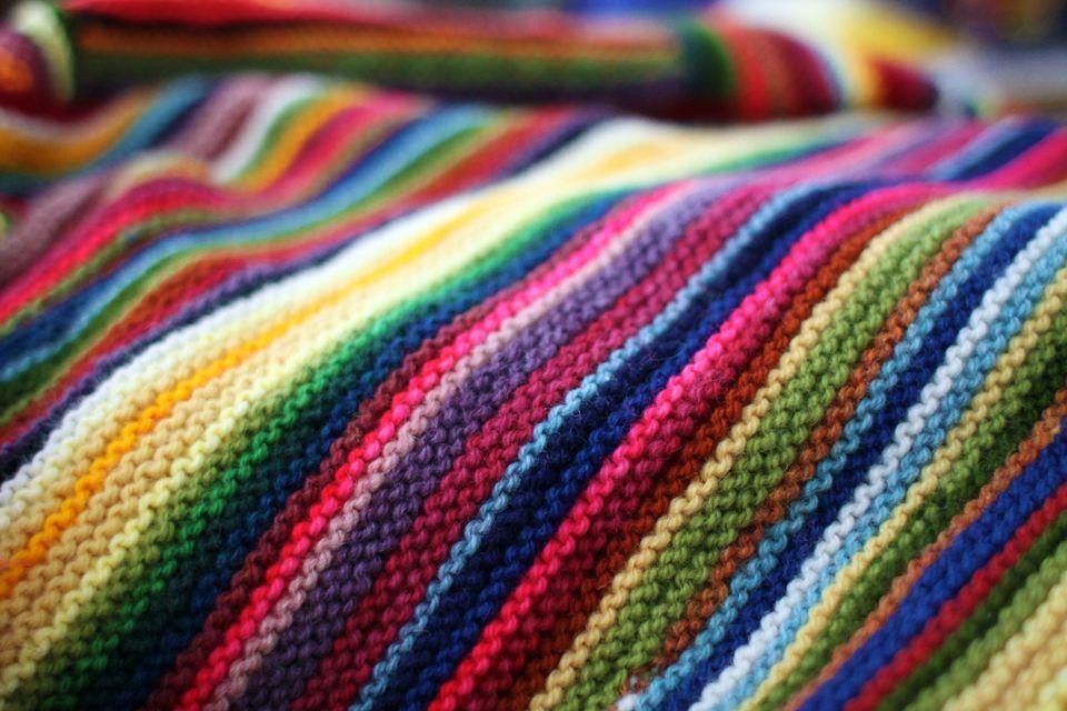 Garter stitch terrain