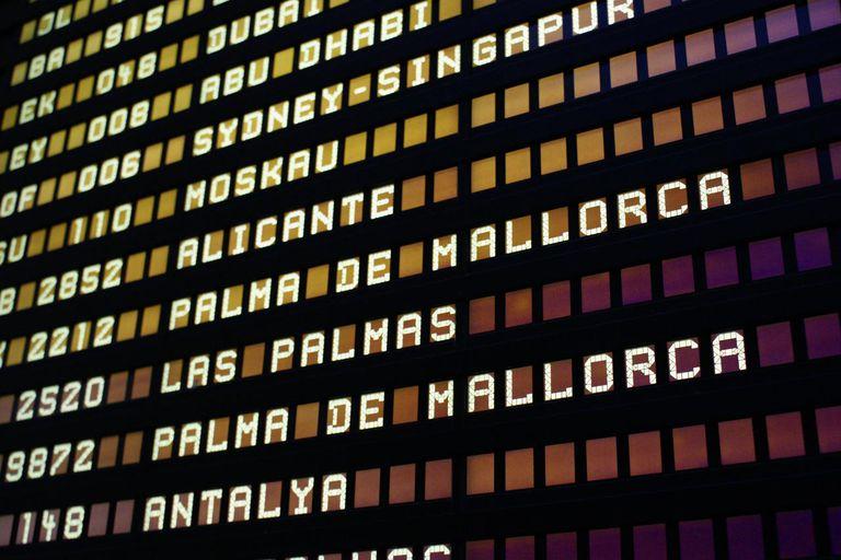 Frankfurt Airport, flight schedule