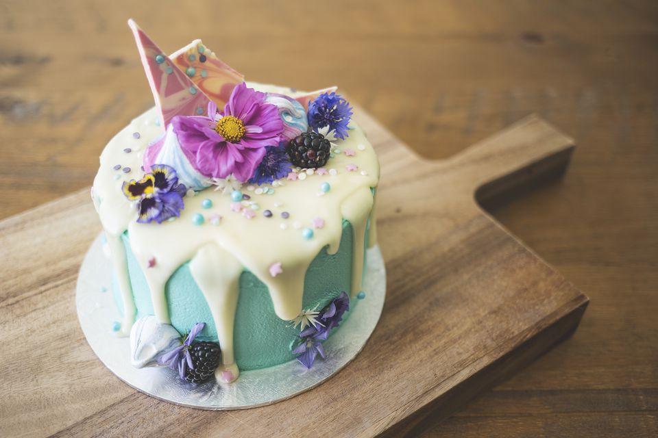 fondant decorated birthday cake