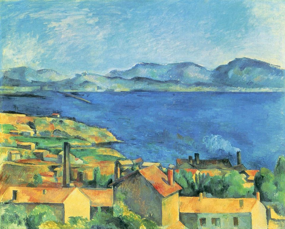 Paul Cézanne, The Gulf of Marseilles from L'Estaque, also called, L'Estaque Between 1878 and 1879.