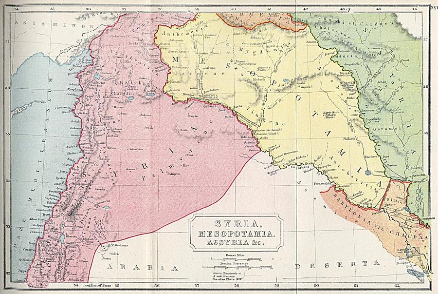 Maps Of Ancient Syria - Map of syria