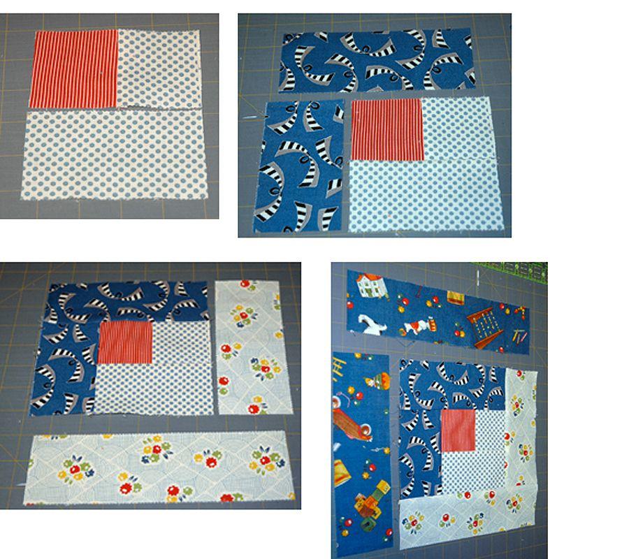 Easy Log Cabin Quilt Block Pattern : log cabin quilt block layouts - Adamdwight.com