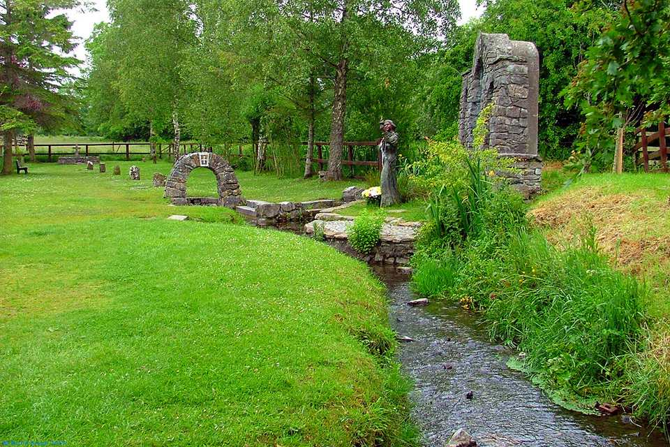 Saint Brigid's Well near Kildare Town - an almost mystical landscape