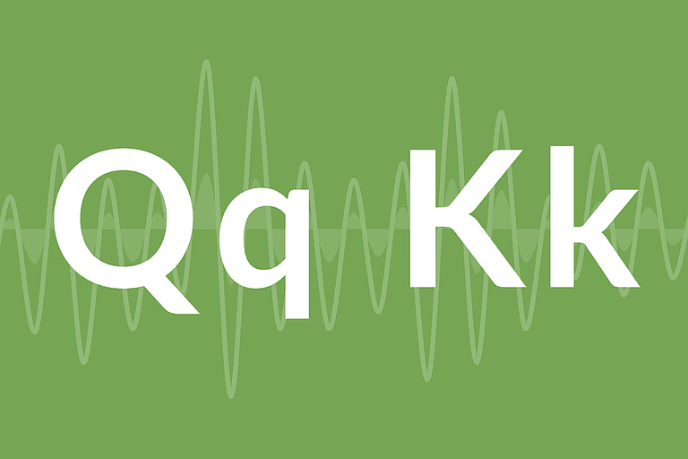 "The letters ""Q"" and ""K"""