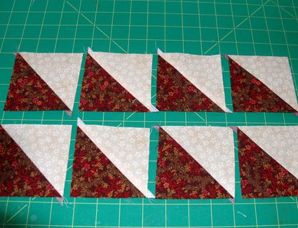 How to Make Easy Half Square Triangle Units for Quilts : quilting triangles tips - Adamdwight.com