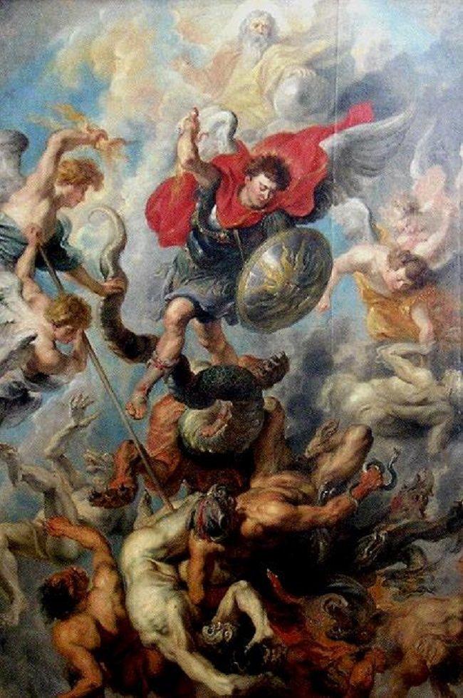 Archangel Michael Satan battle Bible