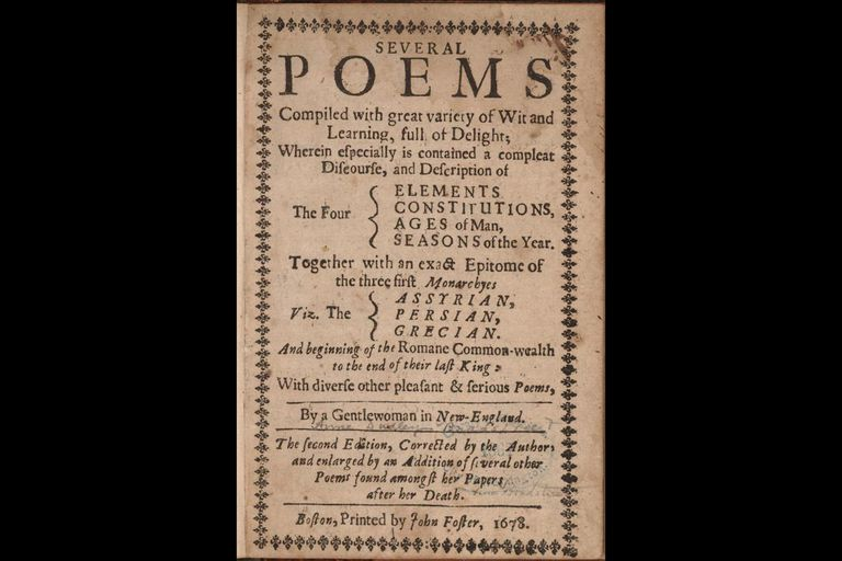 anne bradstreet s poetry themes and style title page second posthumous edition of bradstreet s poems