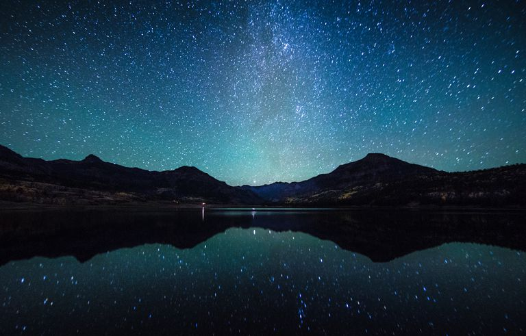 Milky Way reflection sence