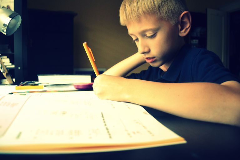 boy studying for test