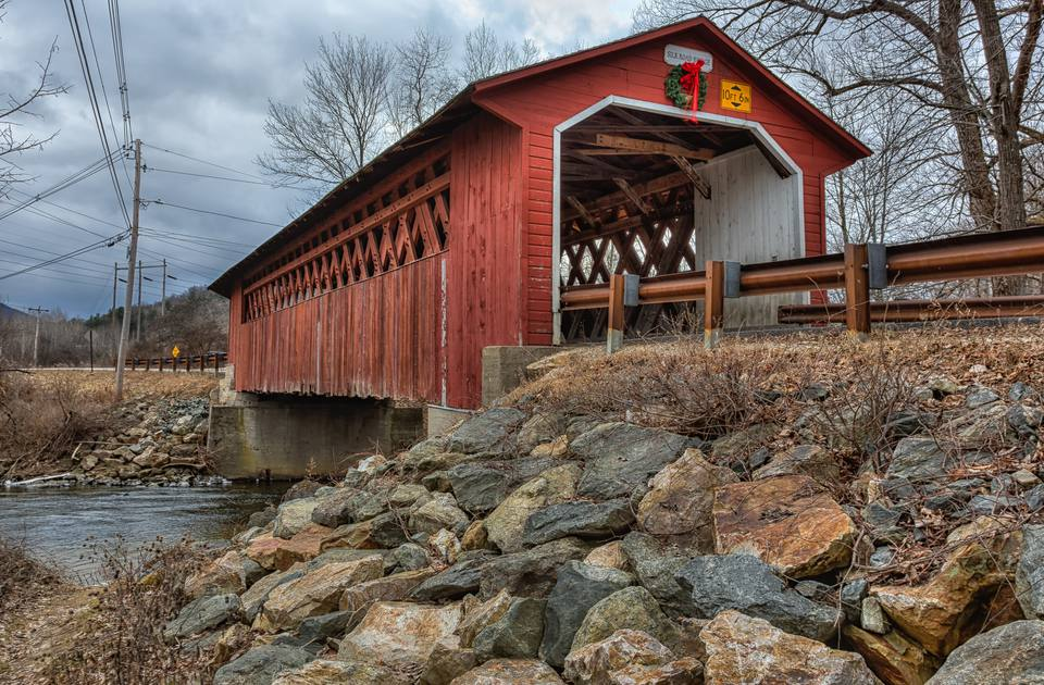 Silk Road covered bridge in Bennington, Vermont