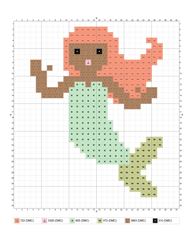 Cross Stitch Chart//Pattern//Design//XStitch The Mermaid