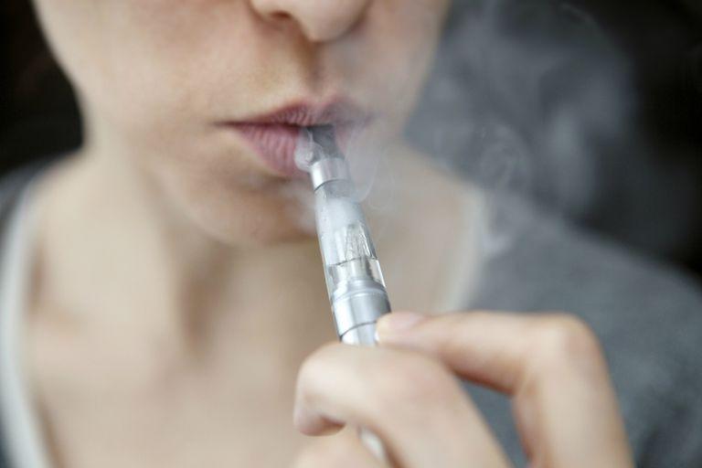 Girl smoking ecig