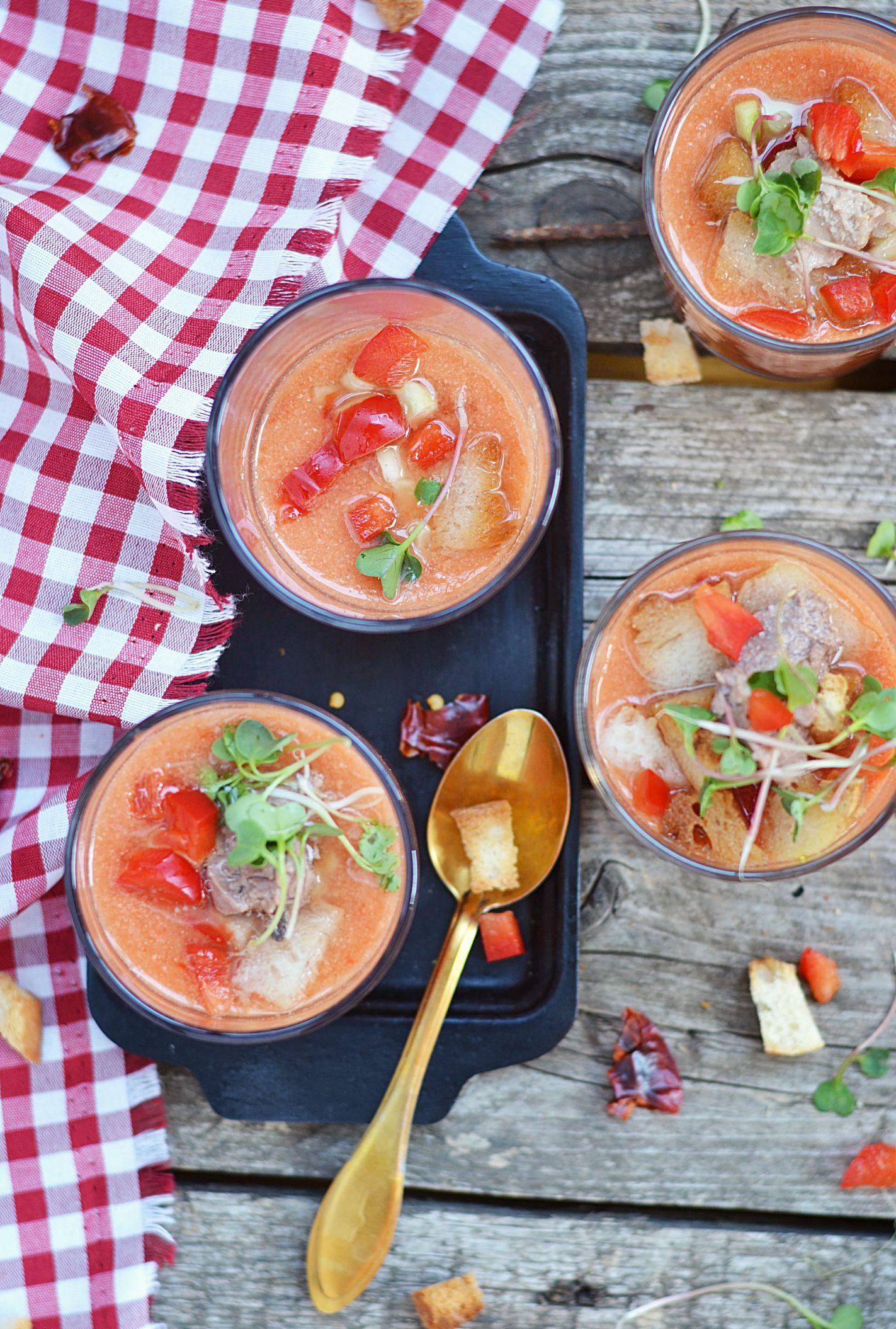 Spanish Cold Tomato Soup Gazpacho Andaluz Recipe