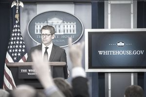 Jay Carney Briefs The Press At The White House