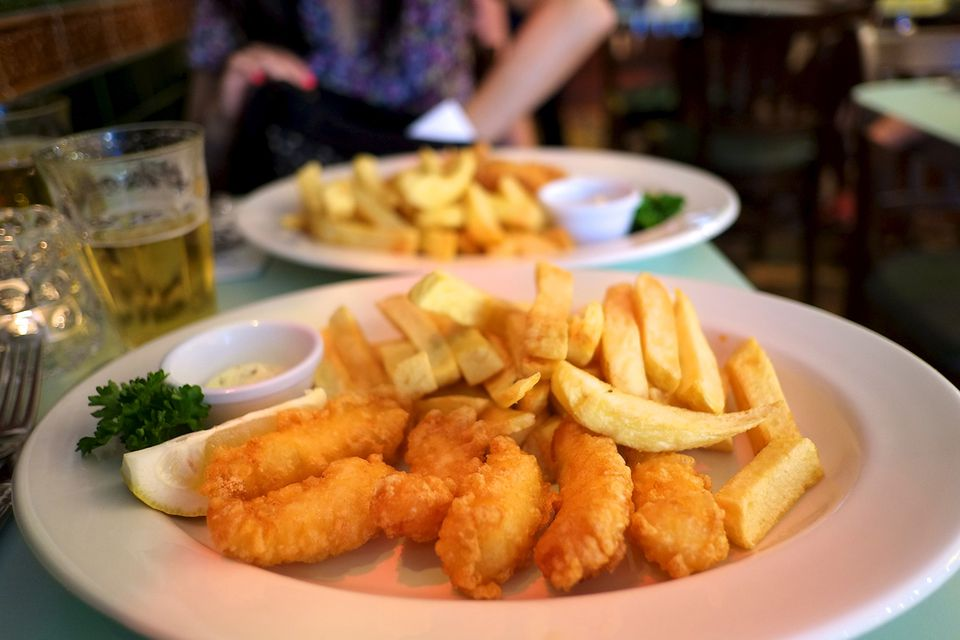 Fish and chips from Poppies