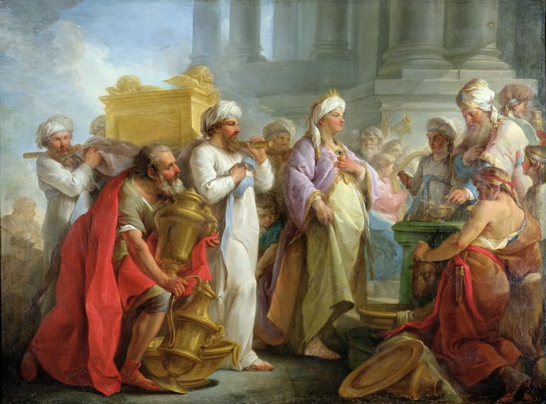 Solomon Before the Ark of the Covenant, 1747 (oil on canvas)